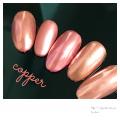 ミラーネイルはコッパーピンクが可愛い!ピンクゴールド感がオトナ女子にぴったり